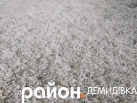 Засніжена земля в Русино-Берестечко