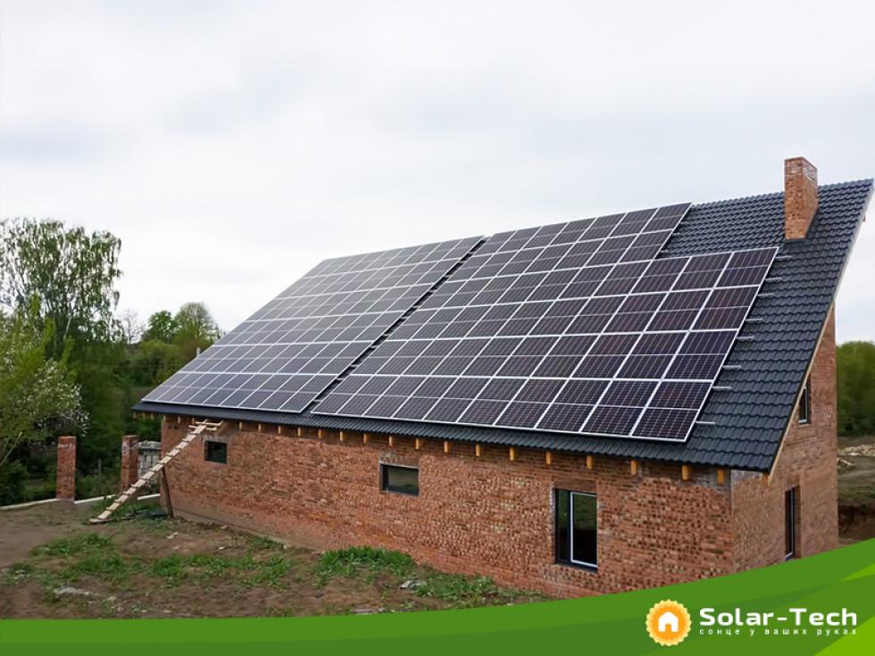 Сонячна електростанція на даху, потужністю 30 кВт під «зелений» тариф у с.Здовбиця Рівненської обл.