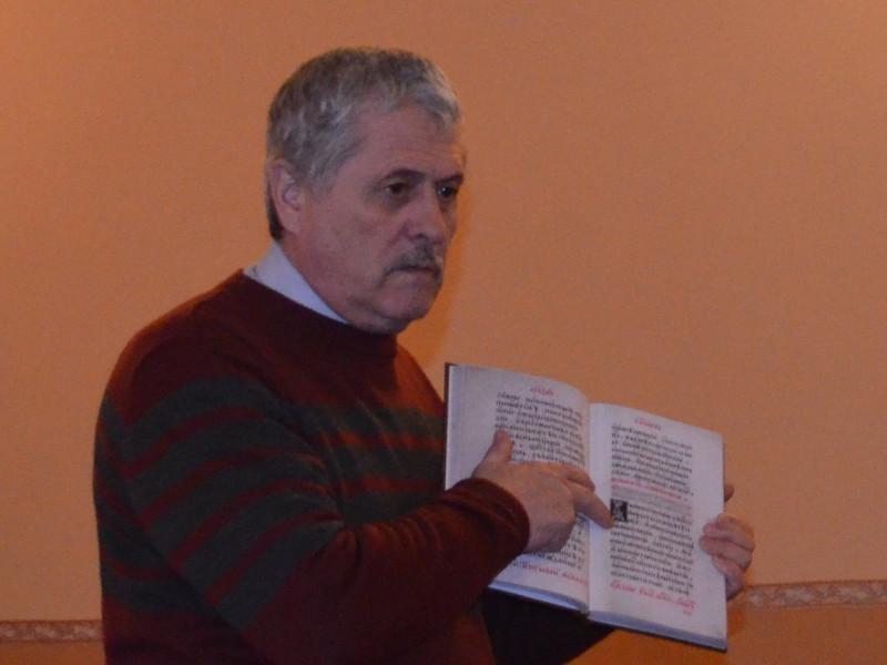 Микола Федоришин під час презентації